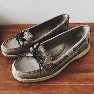 Snake skin angle fish sperry top-siders